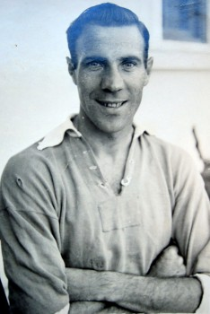 Jack Haines as a player at Leicester City in the 1947-48 season.