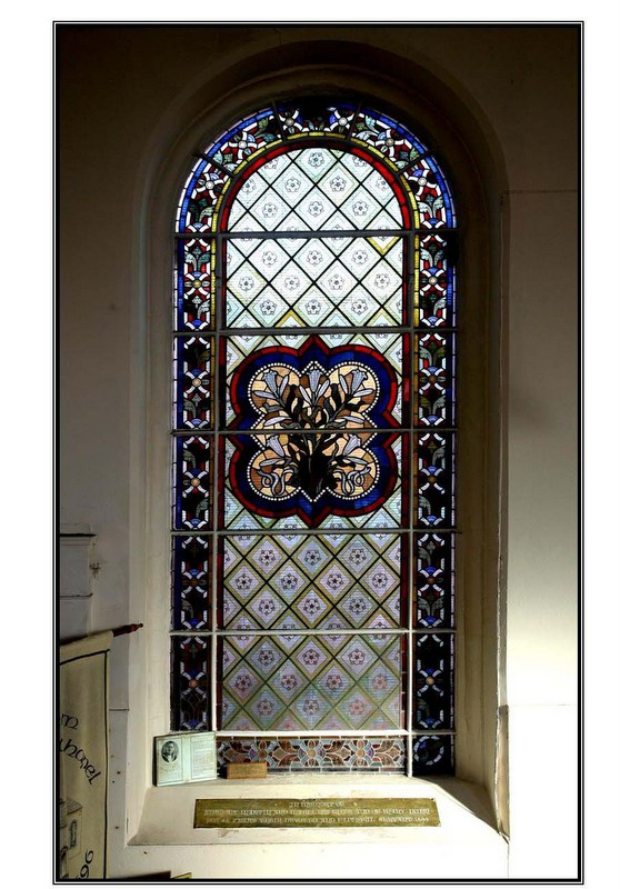 Anthony Martin window in the Evesham Unitarian Chapel