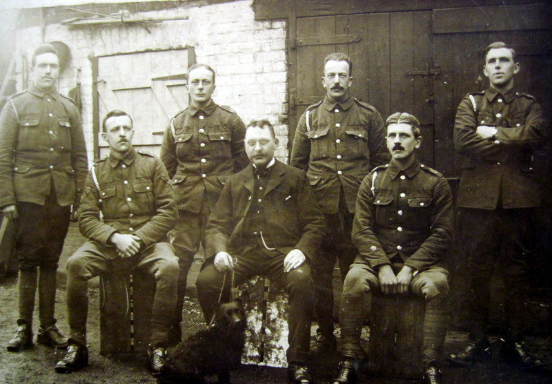 In this picture of some men of the 1st Worcestershire Yeomanry, George Mason is standing on the far right.