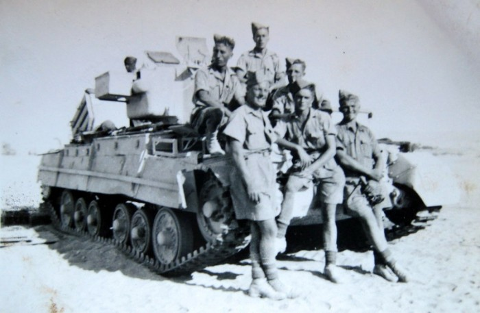 Harry Field and comrades in the Western Desert