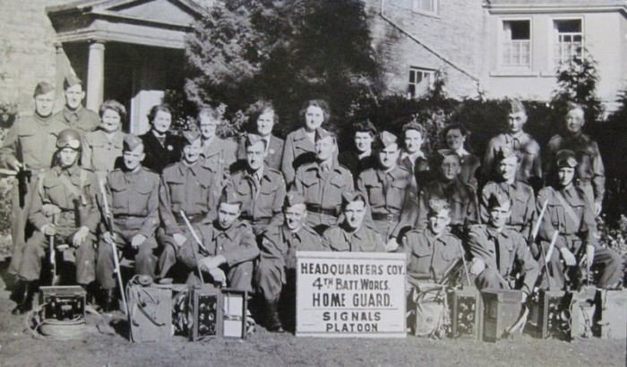 Headquarters Company, Signals Platoon with signalling equipment and women auxiliary staff