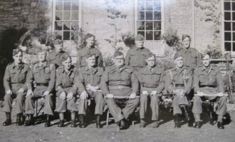 Battalion training staff in 1944