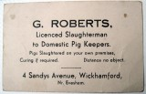 Pig slaughterman