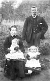 George & Edith Annie Greening with daughters Georgina & Edith Annie