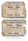 Badsey Flower Show Certificates, 1st prize, 1900 and 1901