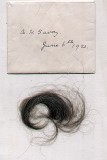 Arthur Savory - 1921 Jun 6, Envelope containing lock of hair belonging to A H Savory