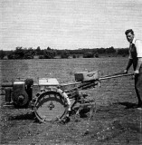 Harry Cook and his rotovator