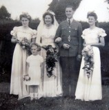 1944 wedding – Leslie Fletcher & Violet Hopkins