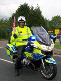 A happy Police escort