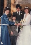 1985 wedding – Robert Simms & Diane Burford