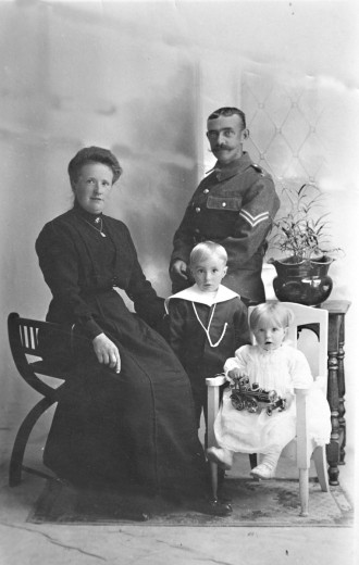 Louis Henry & Rosina Caroline Sparrow with their two children Philip Henry & Esme Mary.
