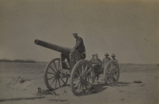 Captured Turkish Gun 1917