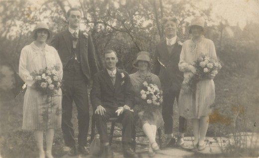 1928 wedding – Fred Cleaver & Edith Jelfs